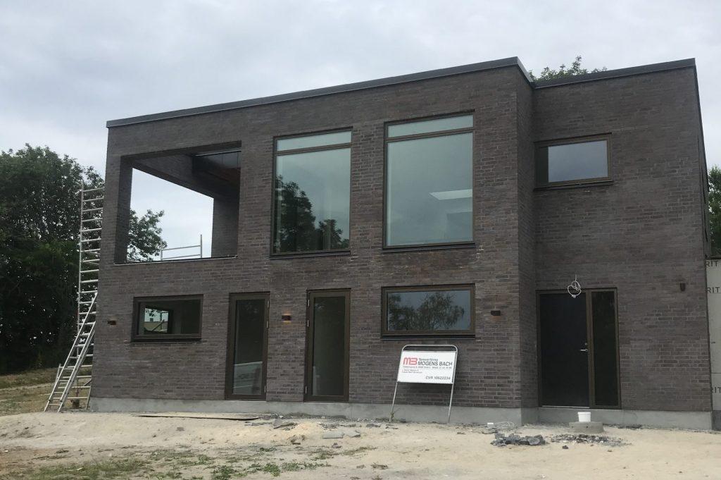 Funkisvilla nybygget i Nibe af Tømrer firma mogens bach